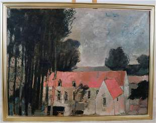 Andre BRASILIER: House with Orange Roof - O/C