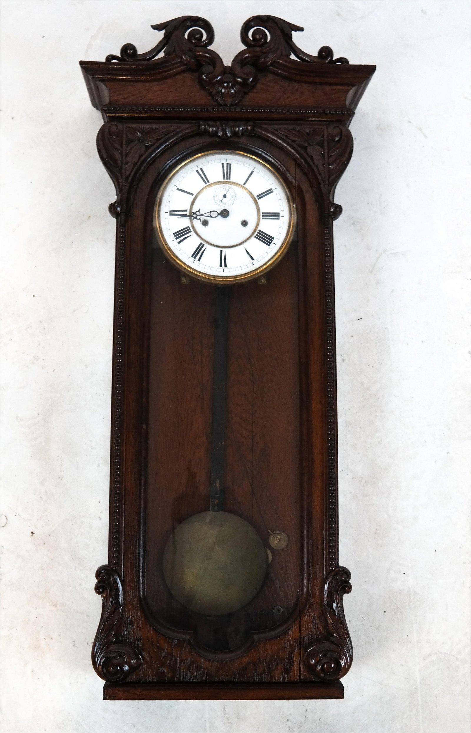 Oak Wall/Shelf Regulator Clock