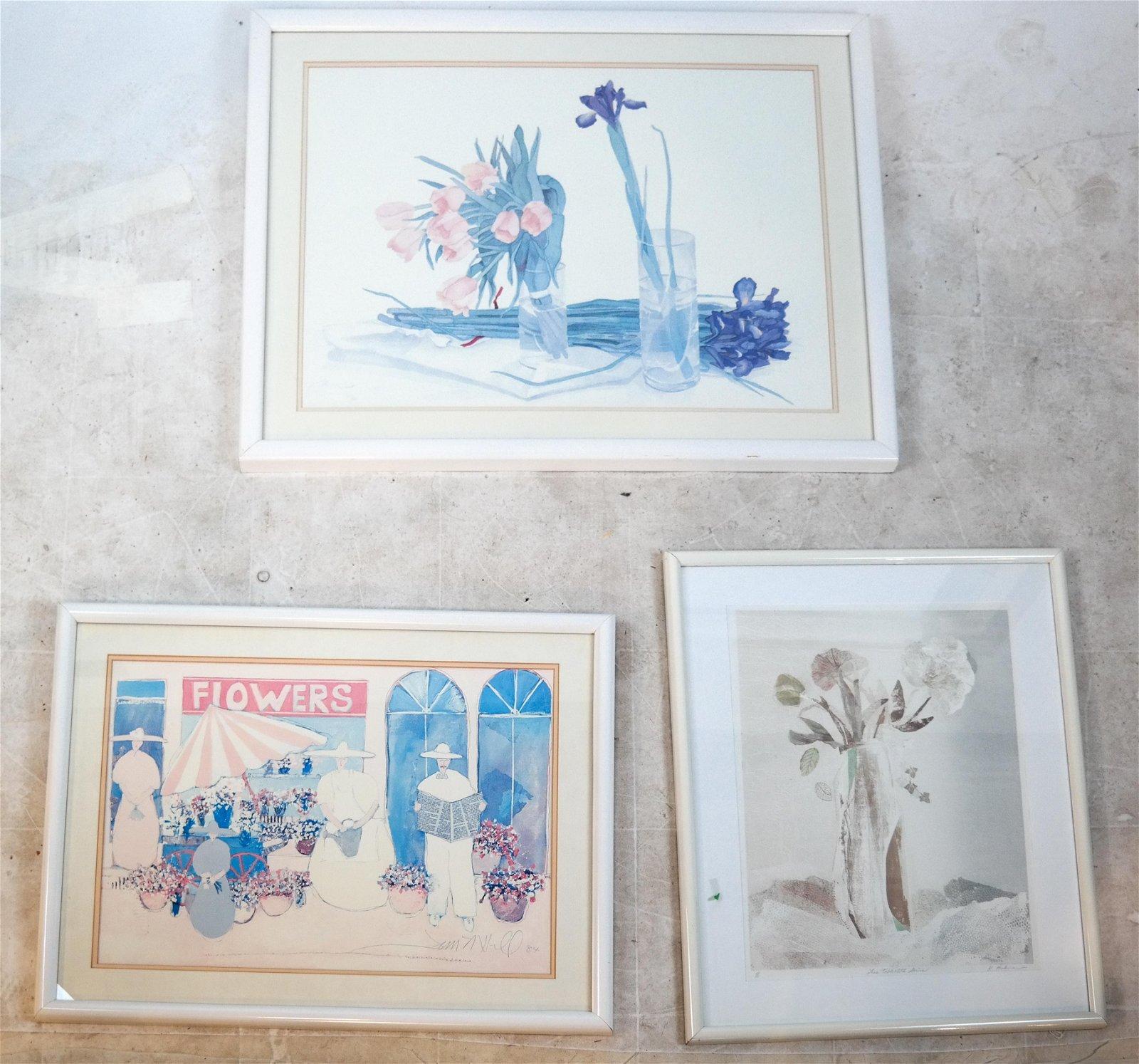 K. HOCKMAN, Others: 3 Still Lifes - Prints