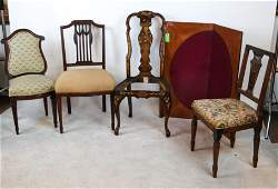 Four Side Chairs & Games Table Top