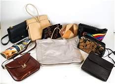 Lot of 10 Assorted Ladies Handbags