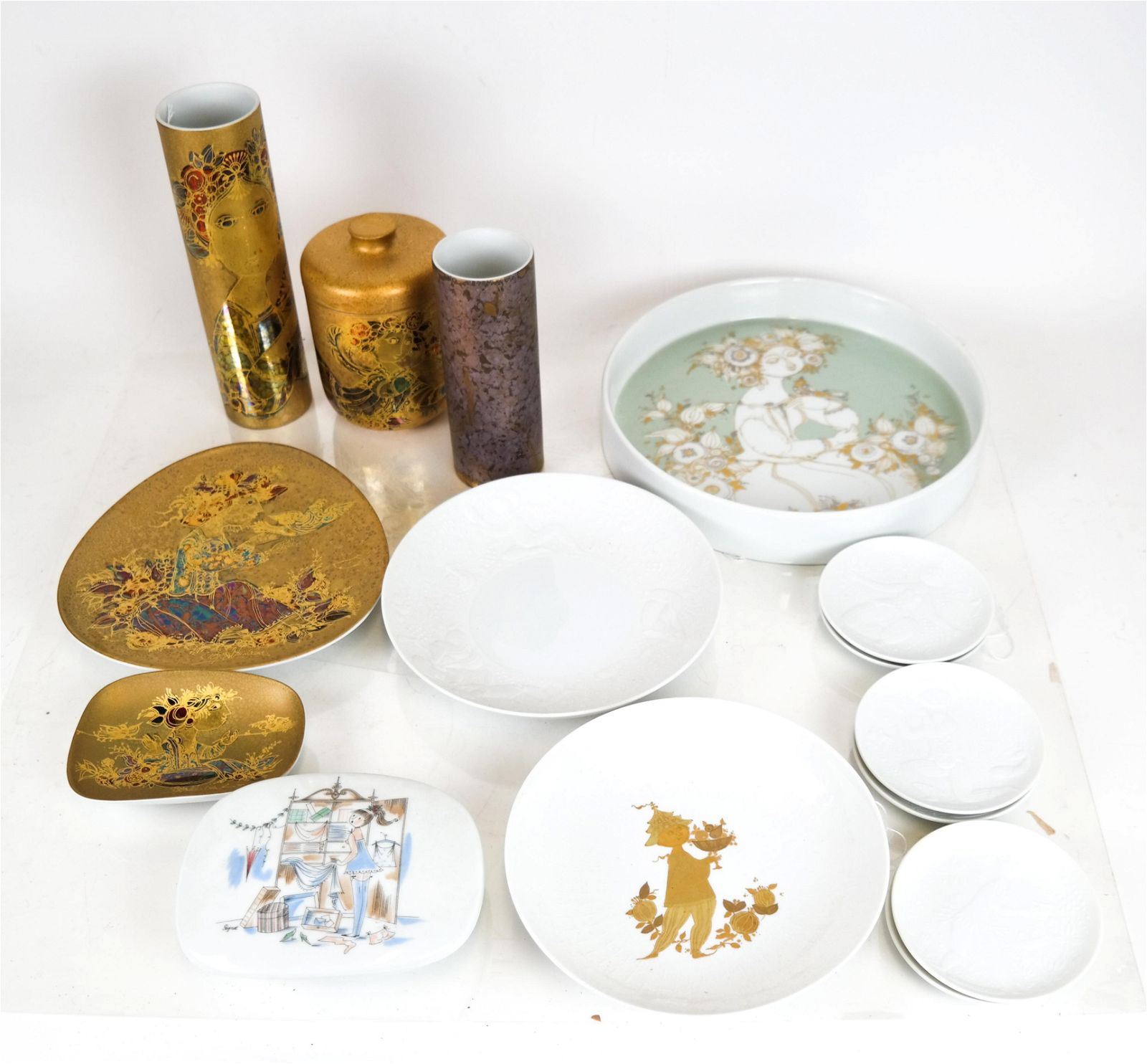 15 Pcs. Bjorn Winblad for Rosenthal Porcelain