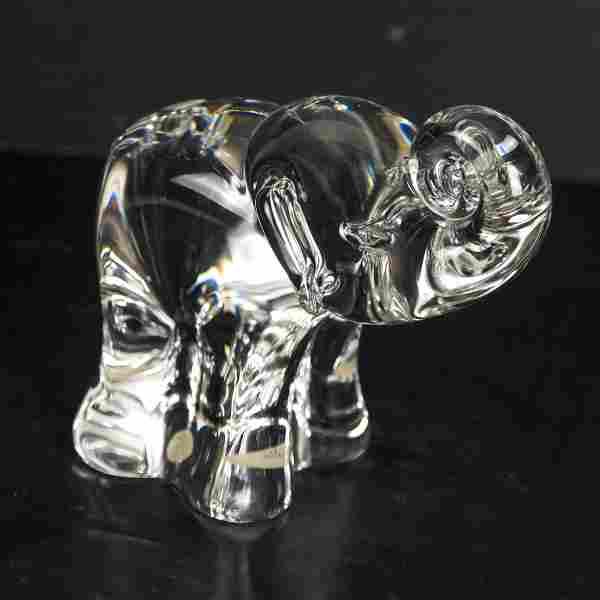 Steuben Crystal Elephant