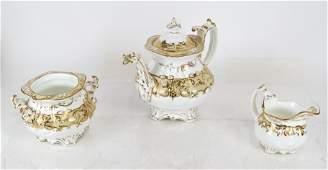 Antique English Rockingham Tea Set