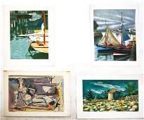 Max WEBER, SALINAS: 4 Silkscreen Prints