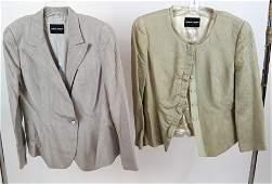 Giorgio ARMANI  Two Silk Jackets