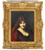 Jean-Jacques HENNER: Portrait of Woman - O/C