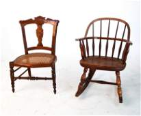 Two American Child's Chairs
