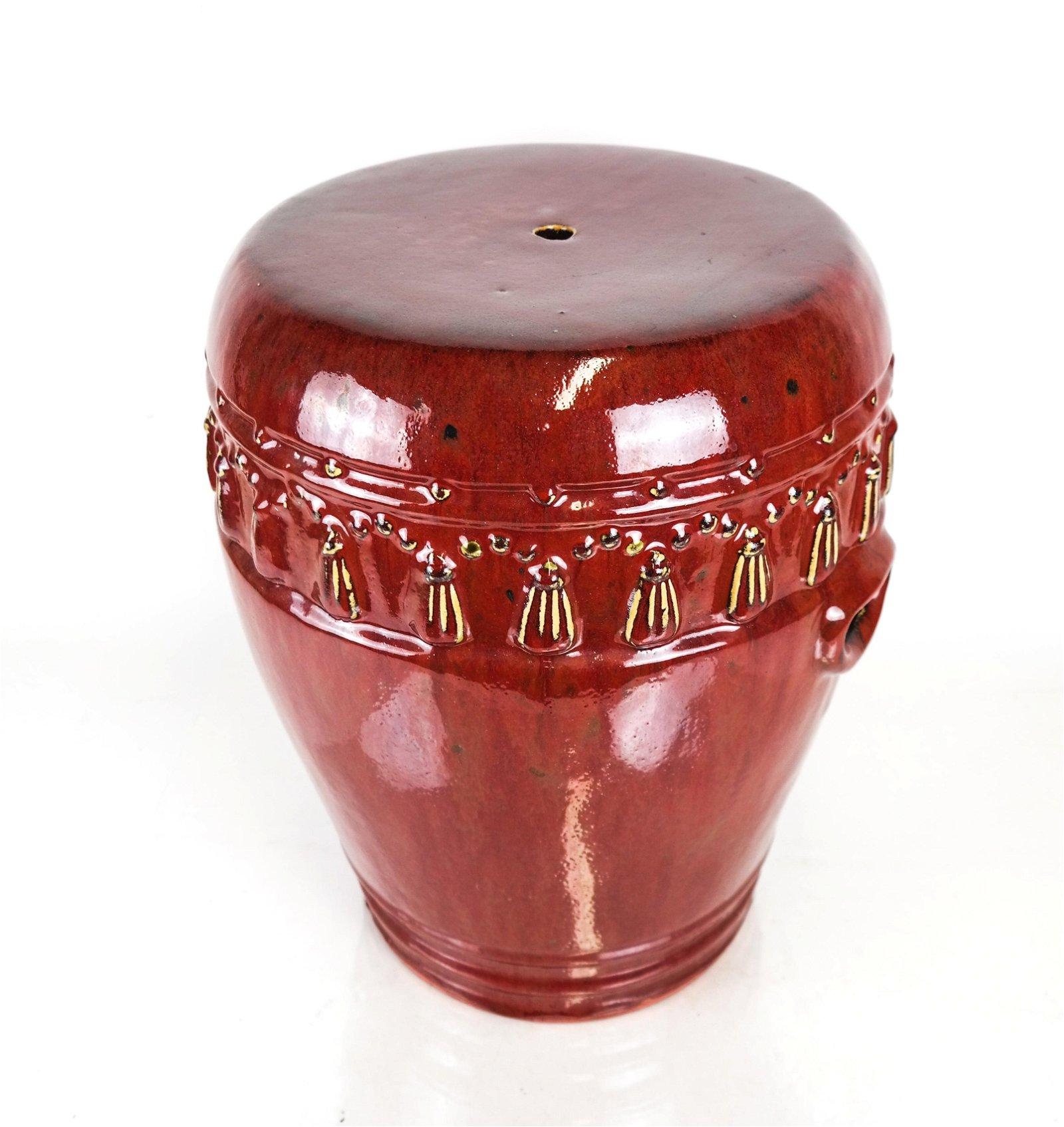 Glazed Ceramic Garden Seat