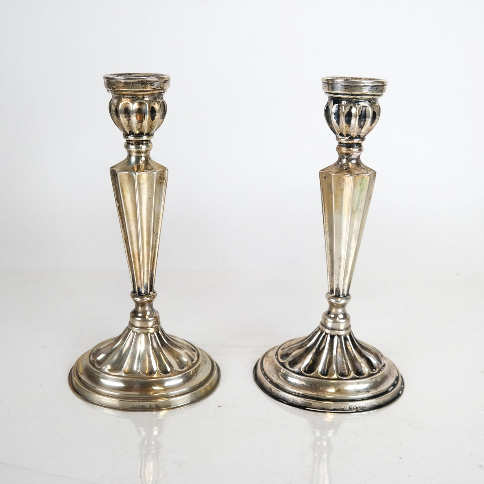 Pair Spanish Sterling Silver Candlesticks