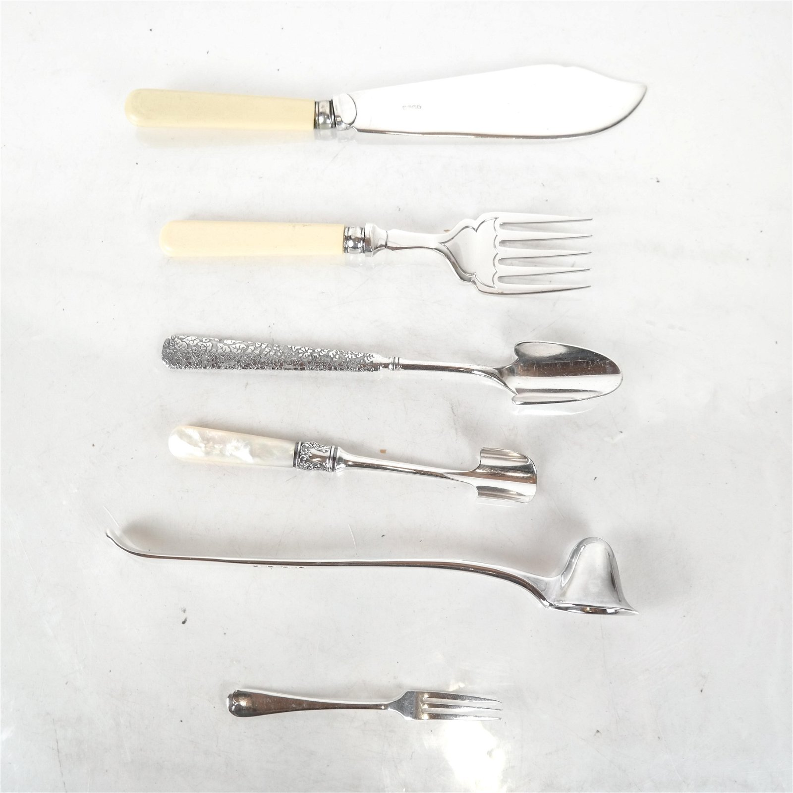 5 Silver Plate Service Items, Other