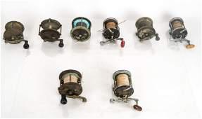 Lot of 8 Fishing Reels