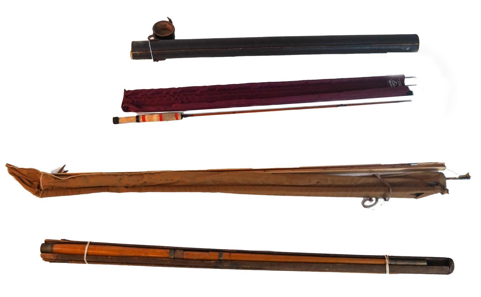 3 Sets of Vintage Fishing Rods: Folsom, Edwards, Other