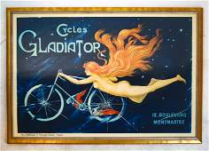 """French Poster """"Cycles Gladiator"""""""