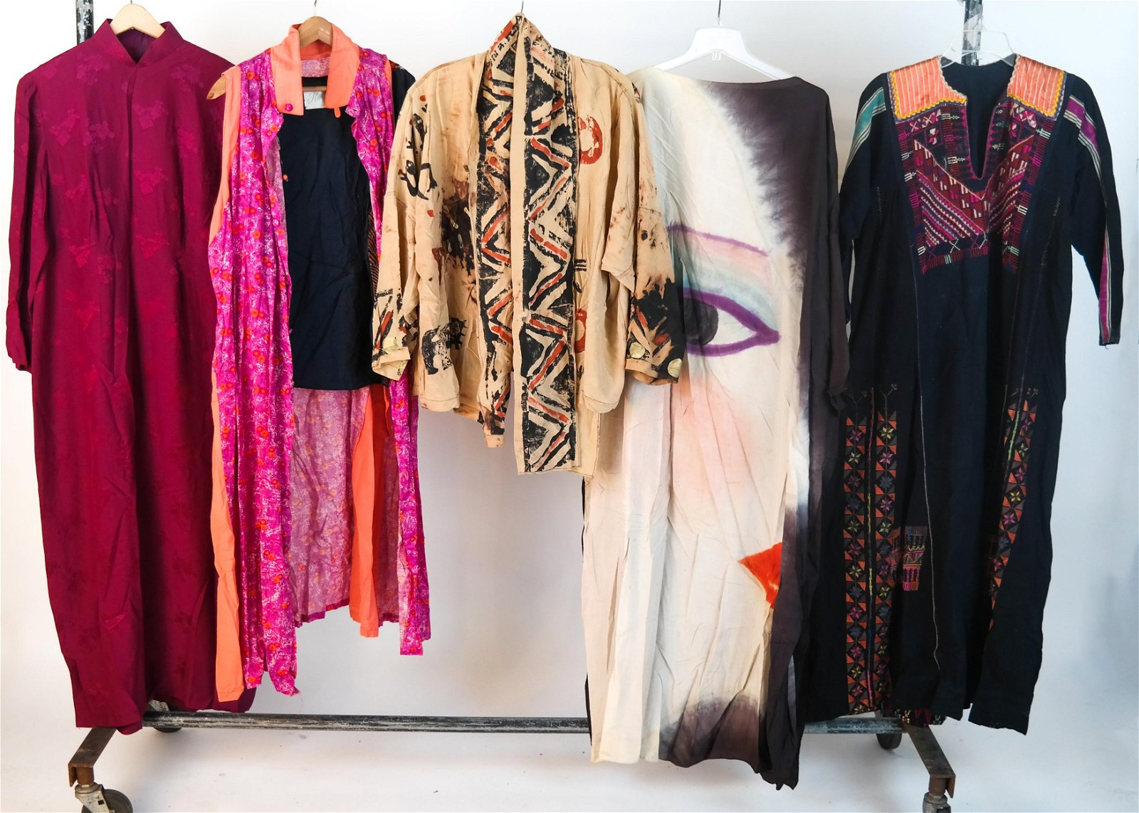 Lot of 5 Vintage Asian Clothing Items