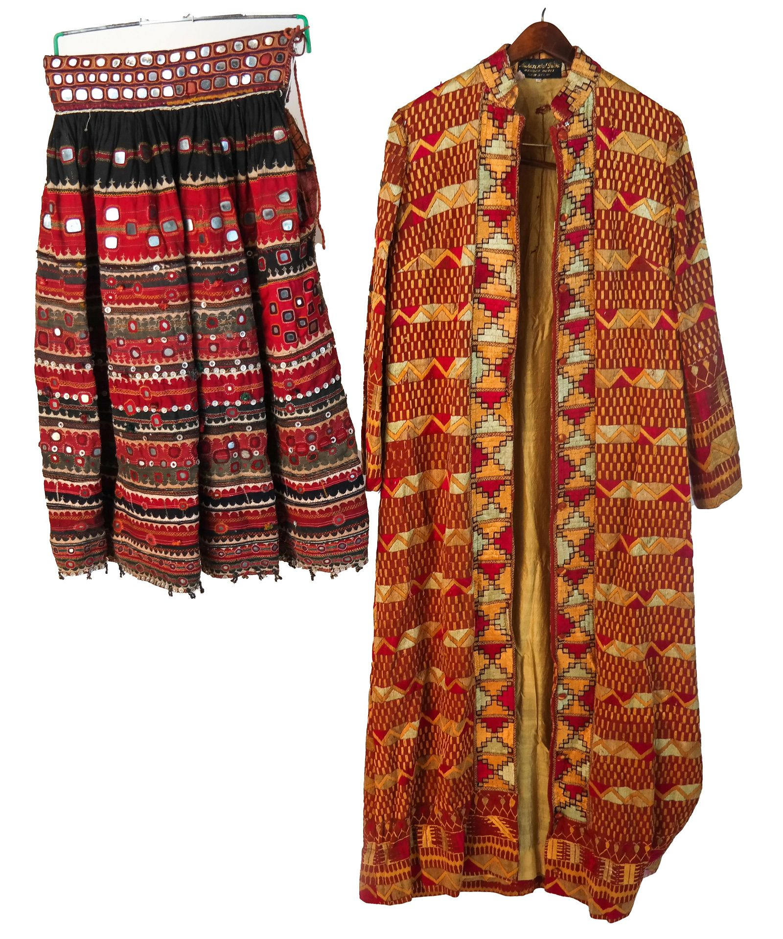 Two Vintage Hand-Made Indian Garments