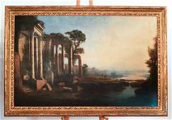 Manner of Claude LORRAIN: Ruins - Oil on Canvas