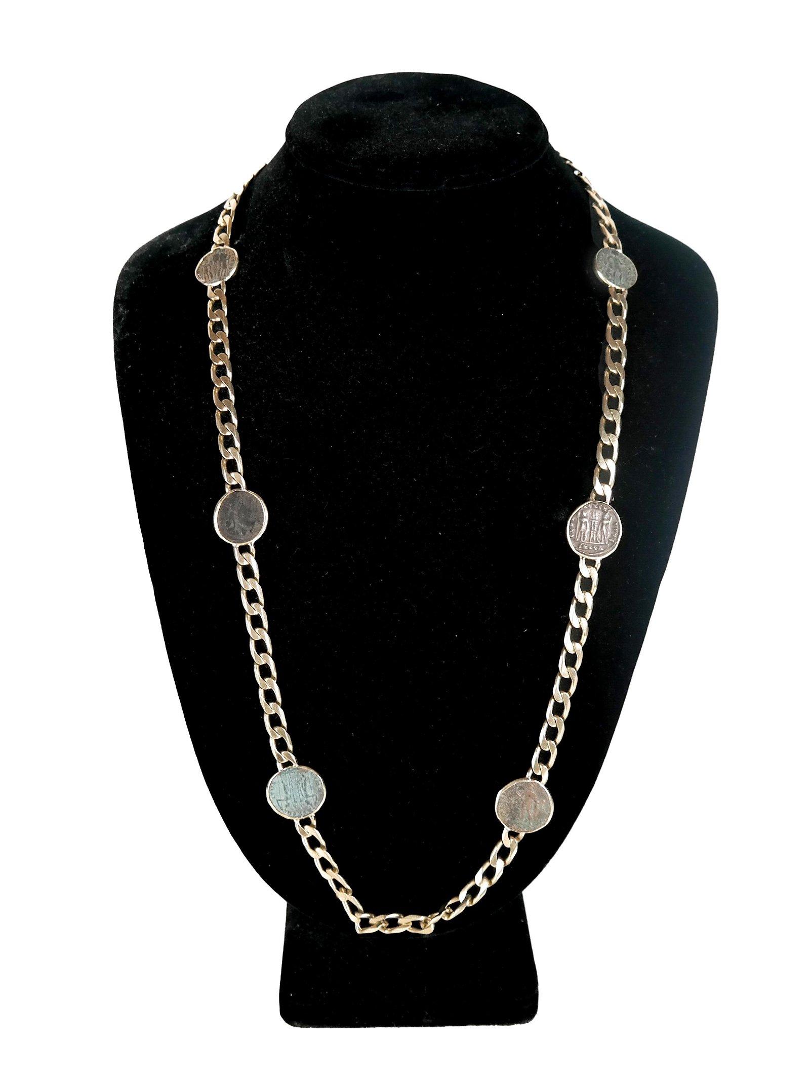 BULGARI Ancient Roman Coin Necklace