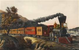 Currier  Ives The American Express Train  Print