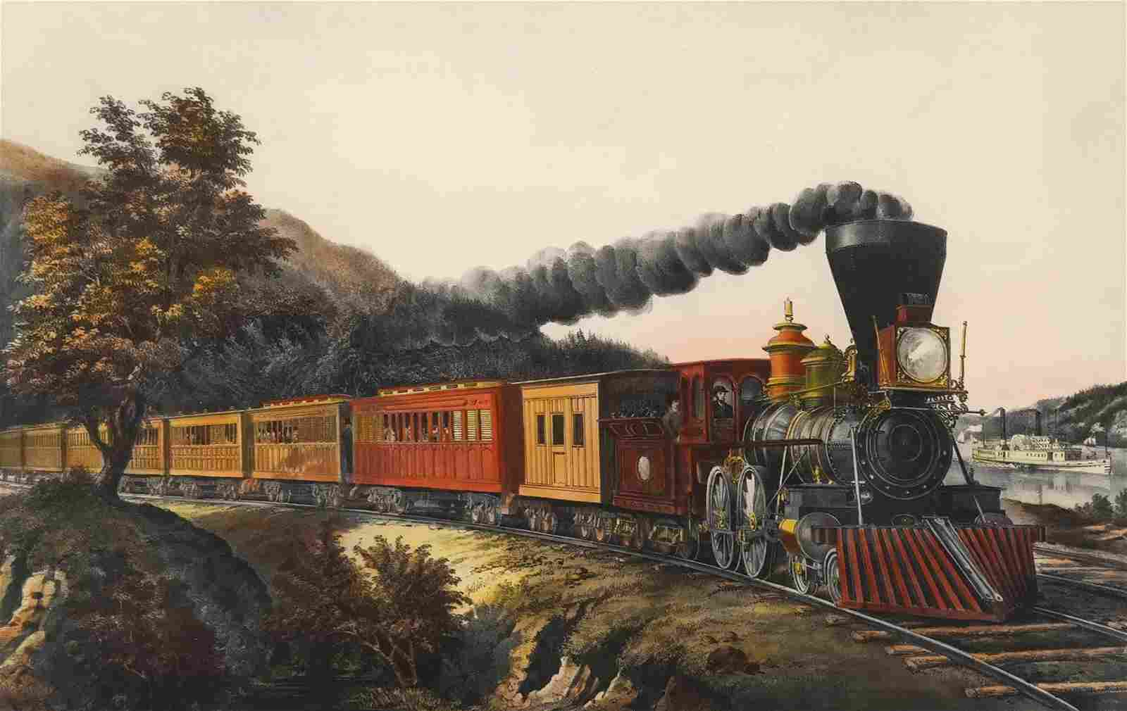 Currier & Ives: The American Express Train - Print