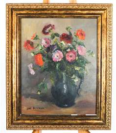 Jane PETERSON: Floral Still Life - Oil on Board