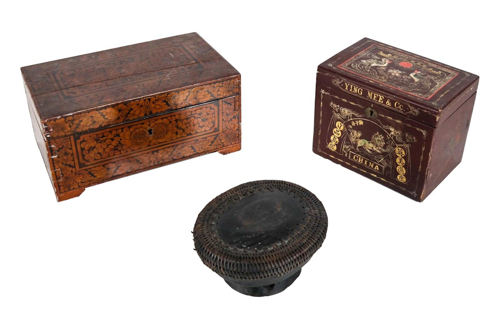 Three Antique Boxes