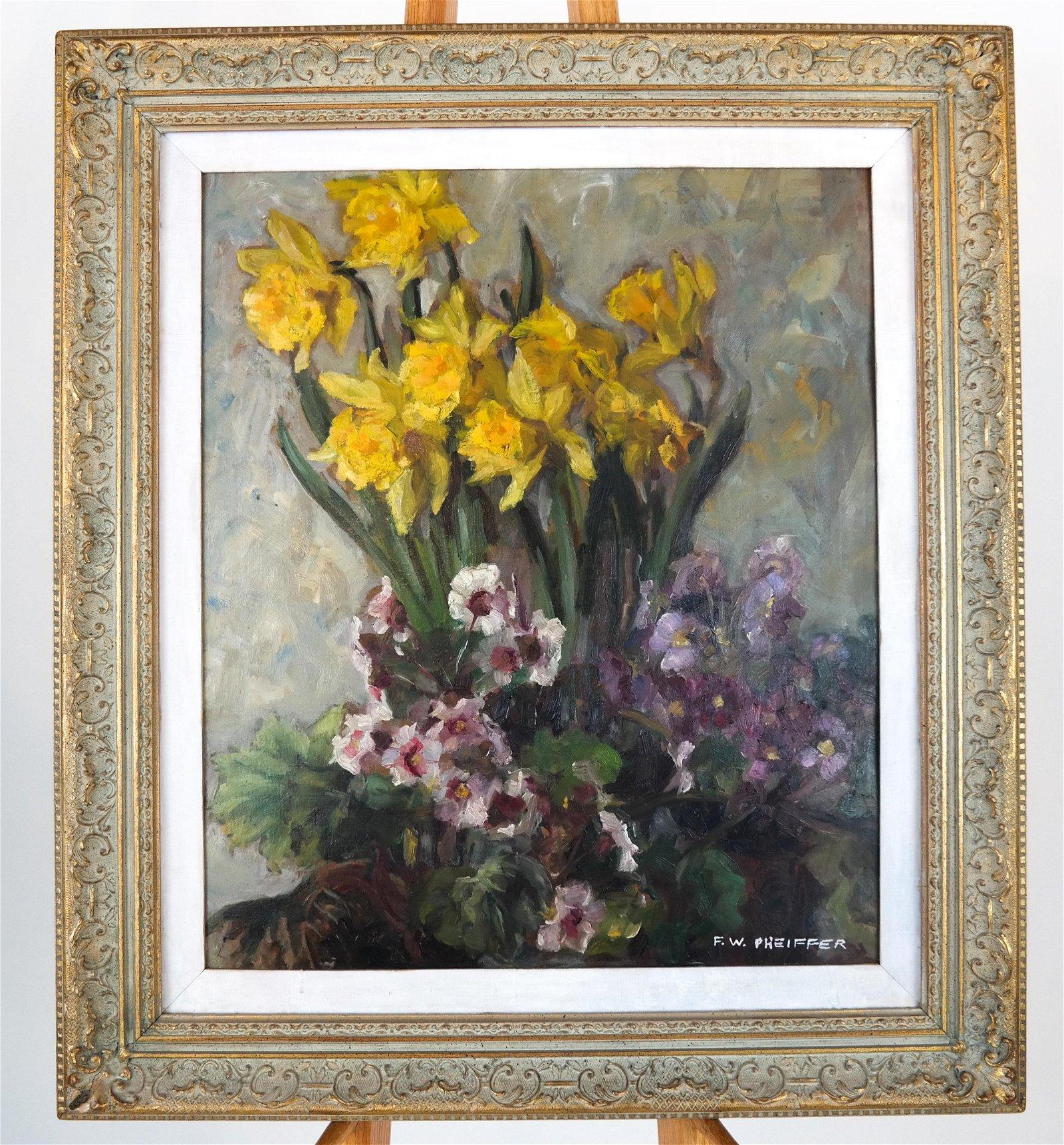 F.W. PHEIFFER: Still Life Painting