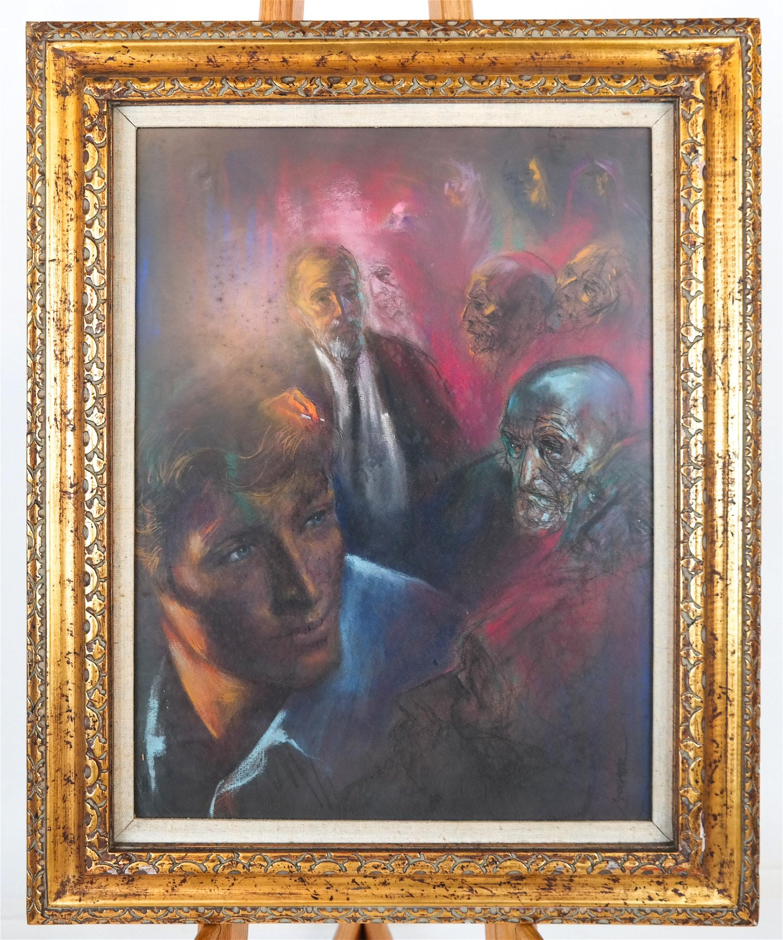 Irv DOCKTOR: Figures and Faces Studies - Pastel
