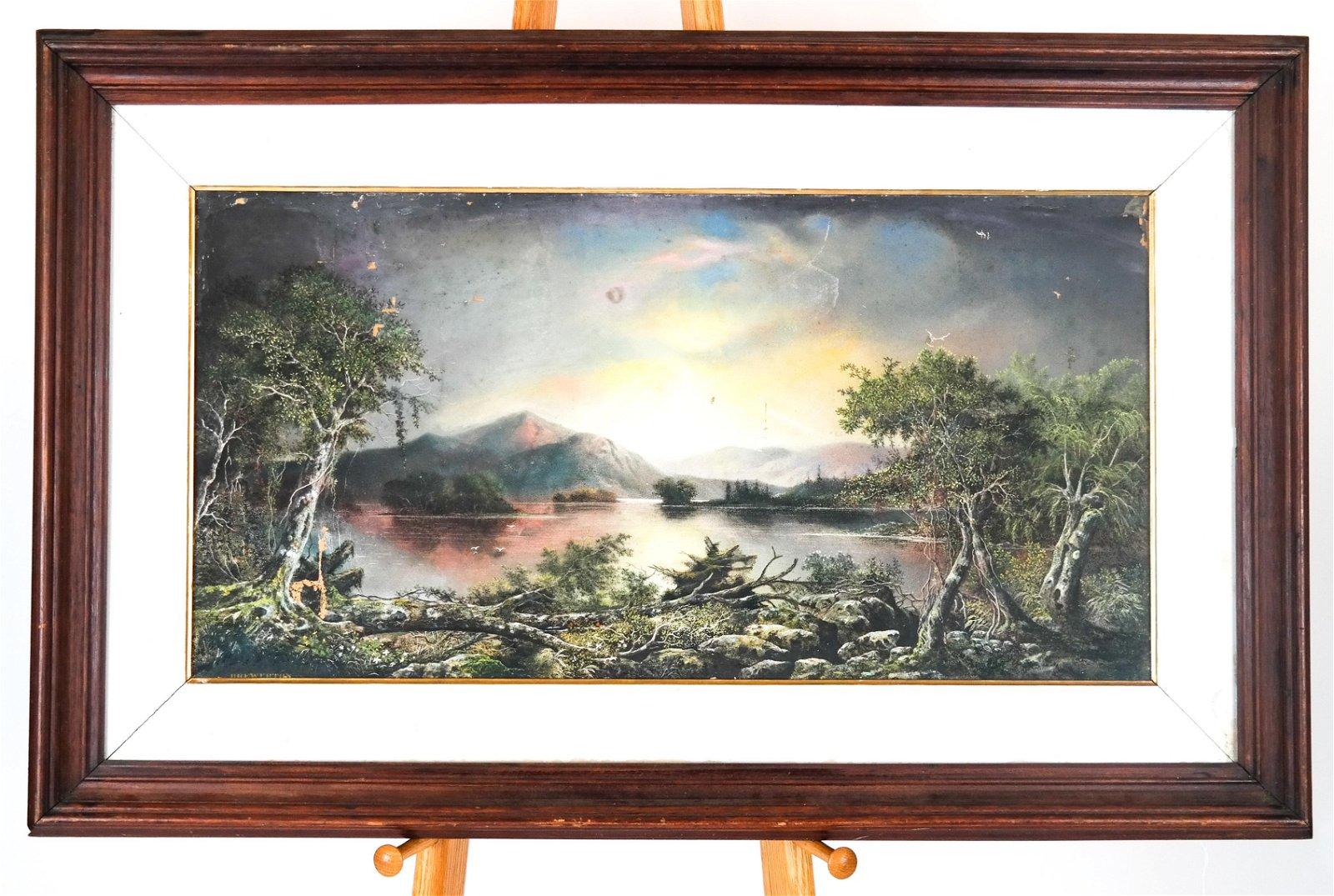 George D. BREWERTON: River/Landscape - Pastel on C