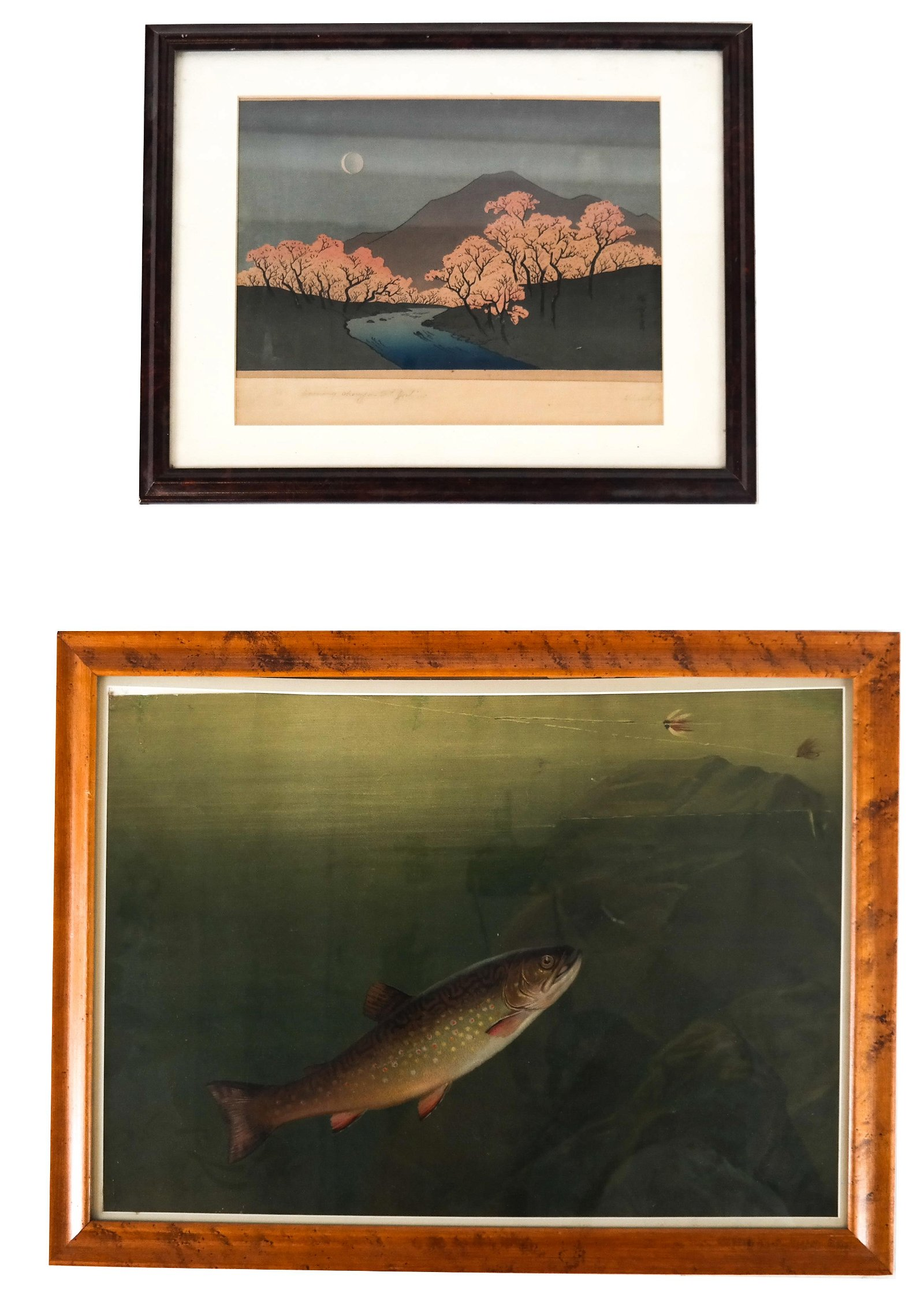Two Prints: Lithograph and Woodblock