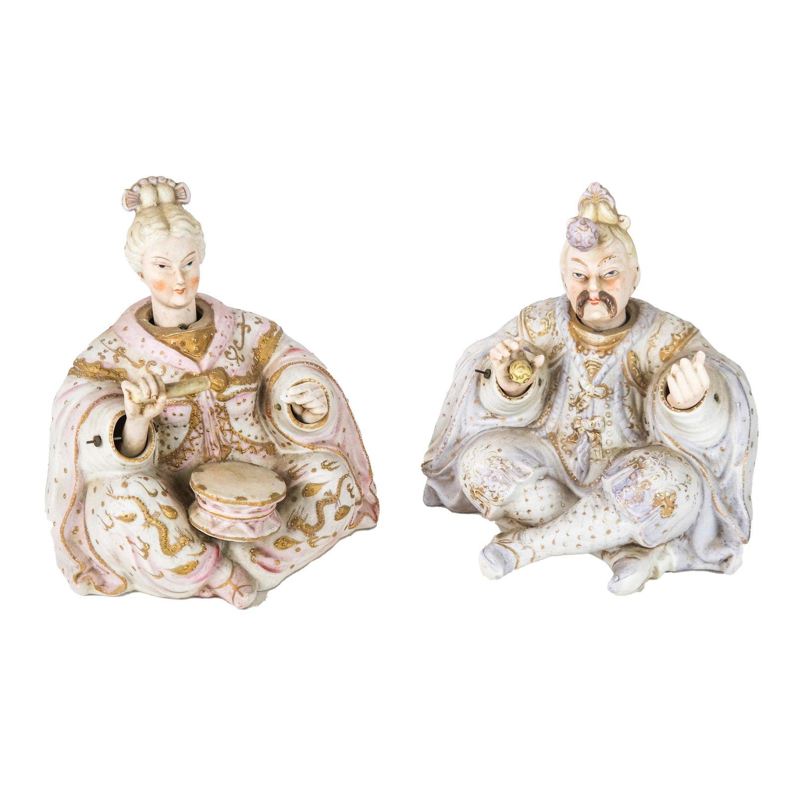 Pair Large German Nodder Figurines