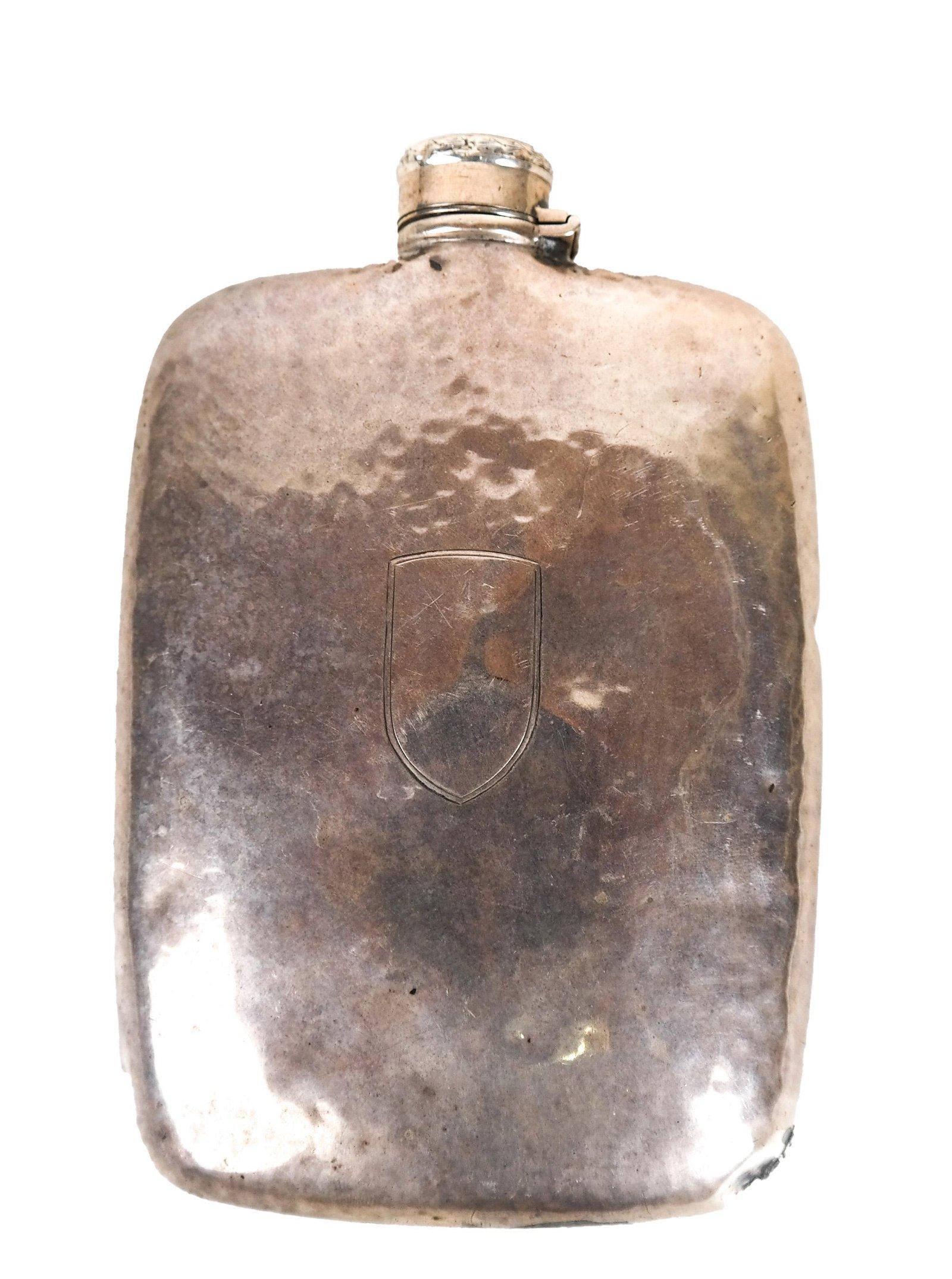 Hammered Sterling Silver Flask