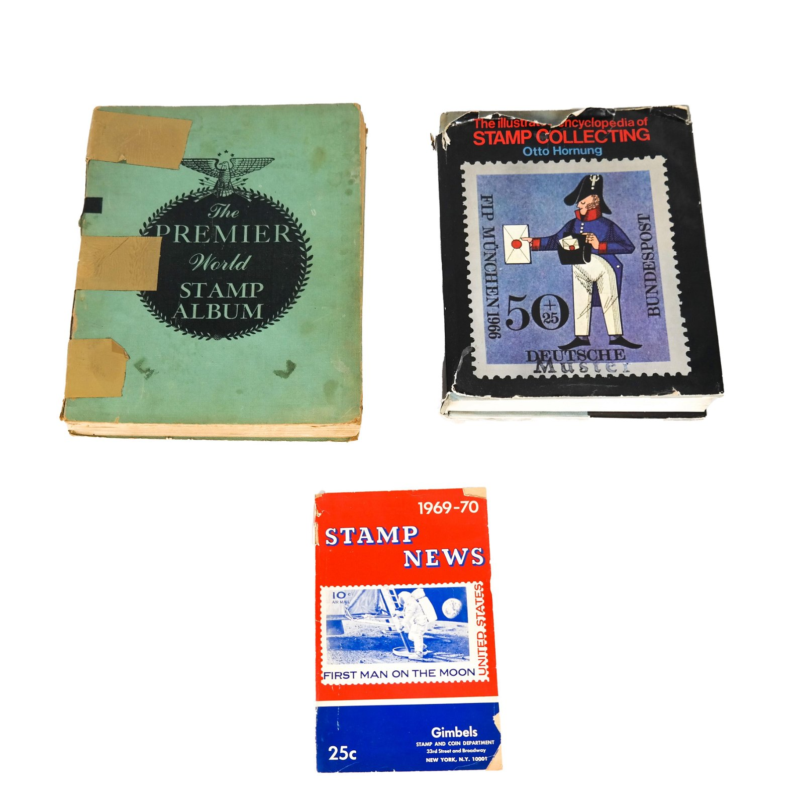 Group of Three Stamp Collecting Books