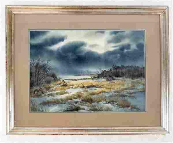 Dorise OLSON, NYC: Storm Coming - Watercolor