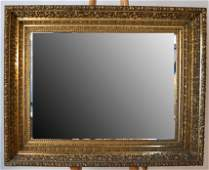 Beveled Glass Gilt Carved Mirror
