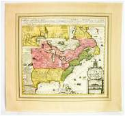 HA CHATELAIN Antique Map of New France
