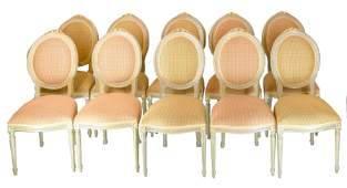 Set of 10 French Dining Chairs