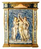 """""""Three Graces"""" Bas Relief, After Botticelli"""