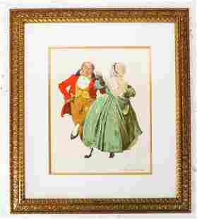 Norman ROCKWELL Dancing Partners Lithograph