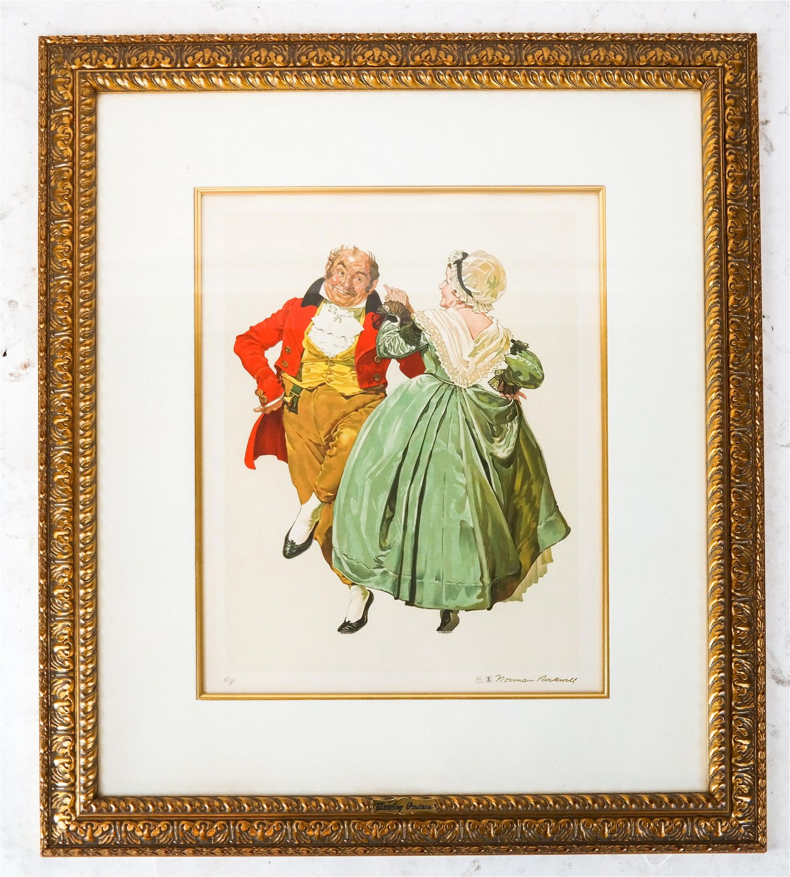 """Norman ROCKWELL: """"Dancing Partners""""- Lithograph"""