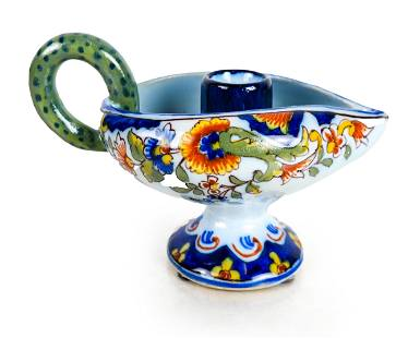 French Ceramic Candle Holder