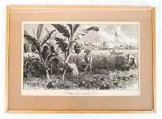 J. HELLAWELL: Market - Woodcut