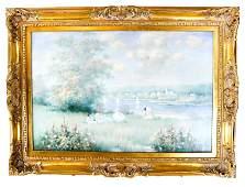 Bouf DELON: Landscape - Oil on Canvas