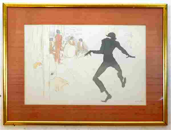 Marcel VERTES: Jazz Dancing - Lithograph