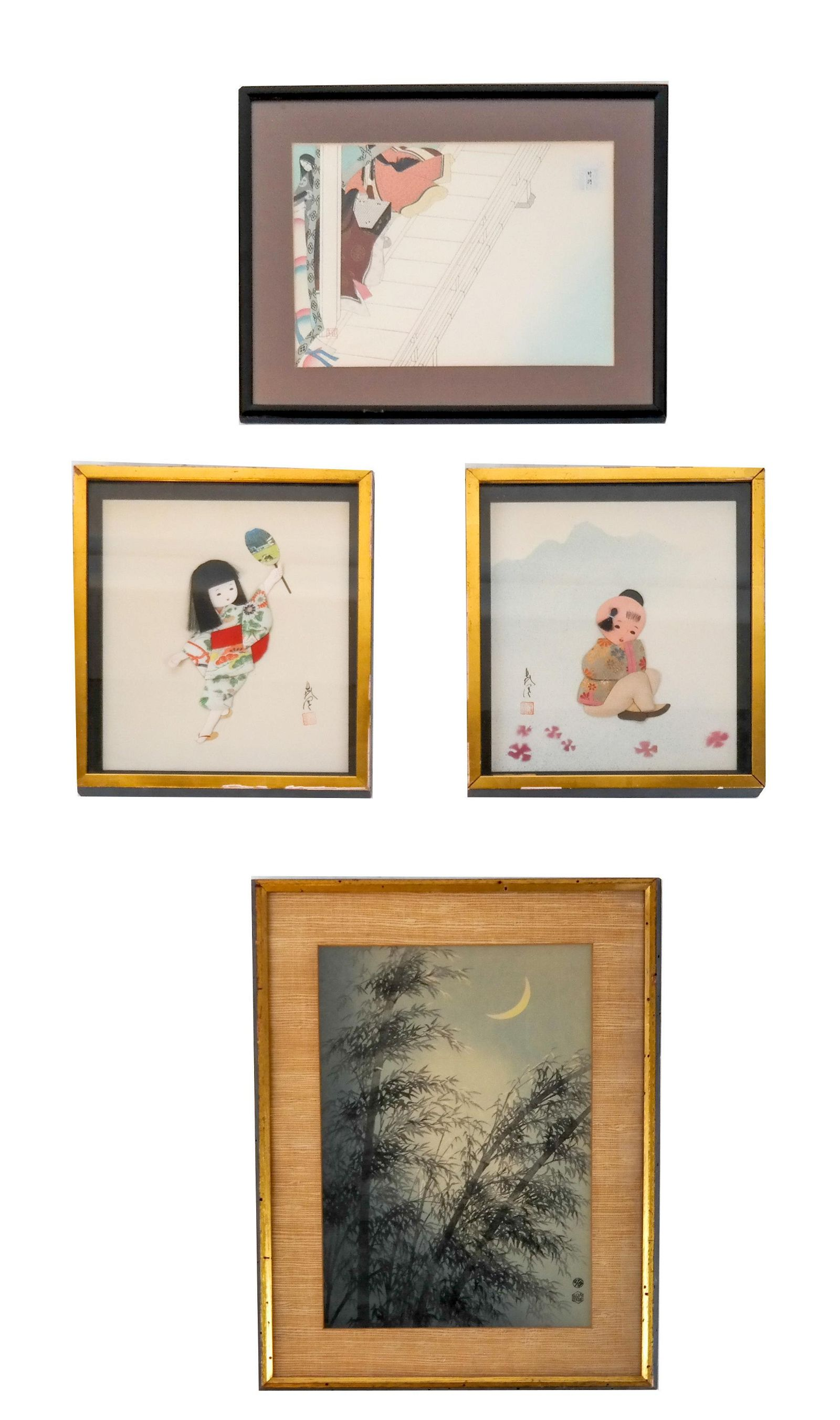 Lot of Four Japanese Prints