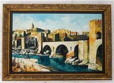 J. M. VAYREDA: Pueblos in Spain- Oil on Canvas