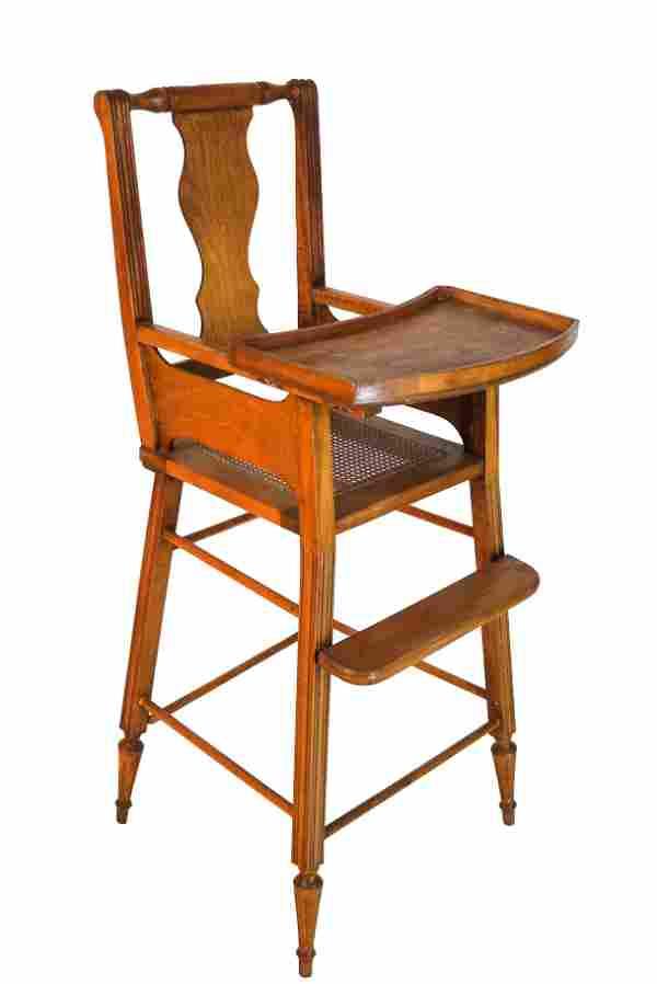 Antique Maple High Chair