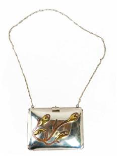 Alpaca Silver Clutch Bag