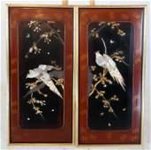 Pair of Japanese Plaques, Circa 1900