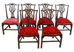 Set of 6 George III Mahogany Dining Chairs
